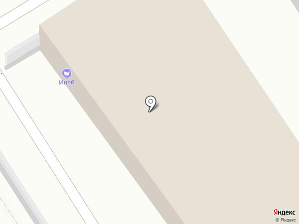 Иней на карте Пятигорска