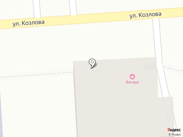 Багира на карте Пятигорска