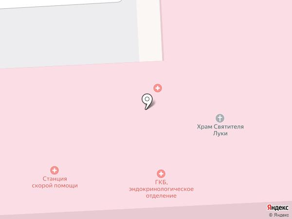 Центральная городская больница г. Пятигорска на карте Пятигорска