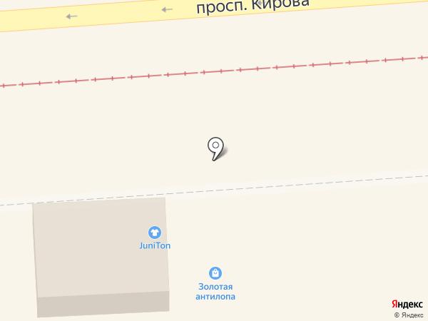 Киоск сувениров на карте Пятигорска