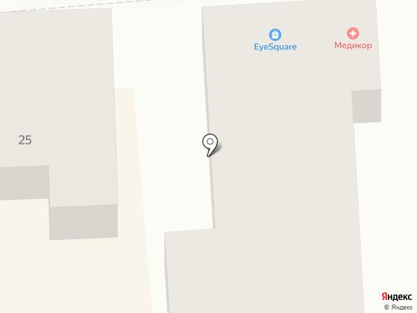 Медикор на карте Пятигорска