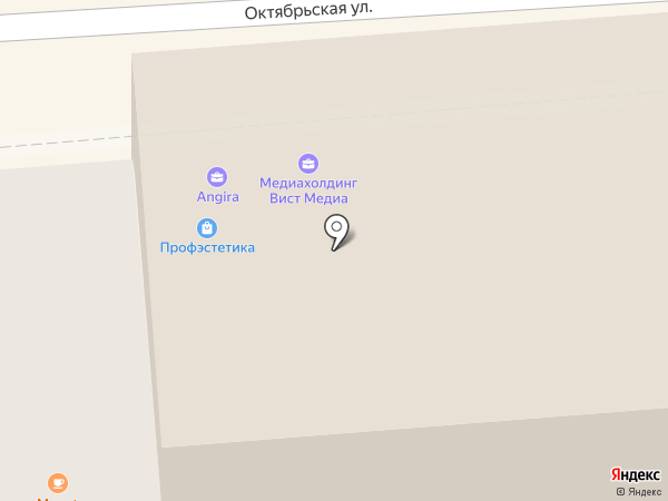 Ангира на карте Пятигорска