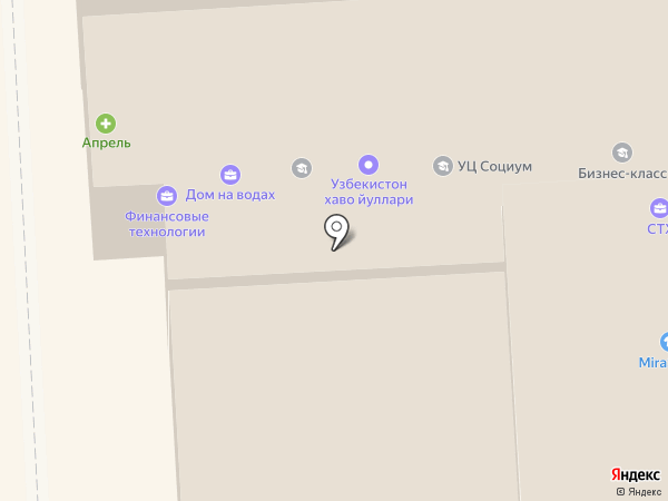 Адамас на карте Пятигорска