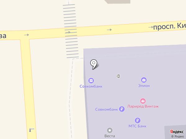 Элион на карте Пятигорска