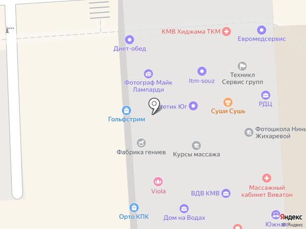 Узбекистон Хаво Йуллари на карте Пятигорска