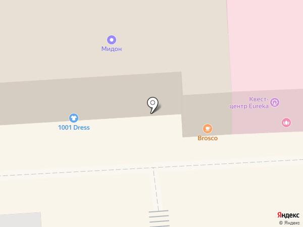 Профстиль на карте Пятигорска