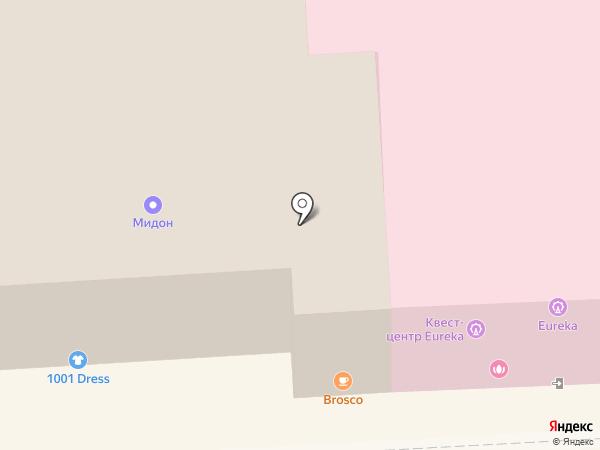 Ротана на карте Пятигорска