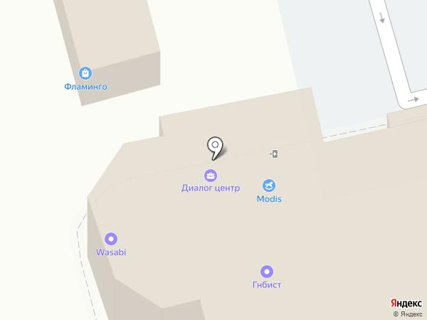Форте на карте Пятигорска