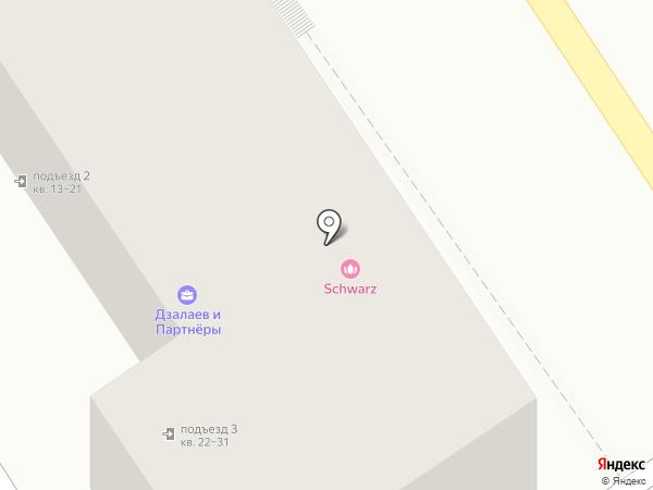 Шварц на карте Пятигорска