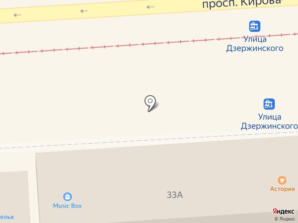 Music Box на карте Пятигорска