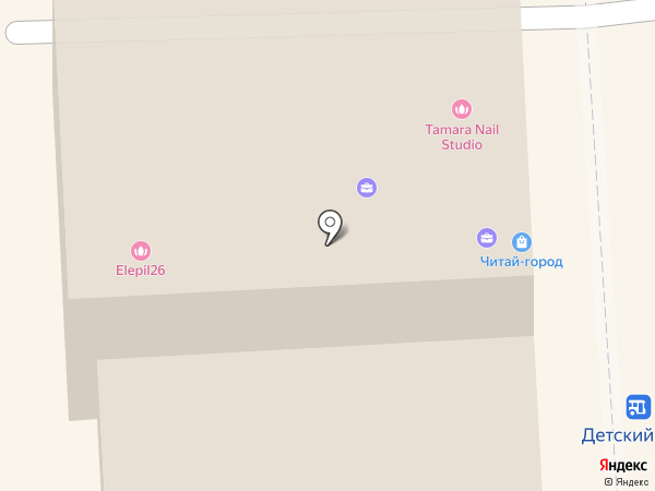 Интаклин на карте Пятигорска