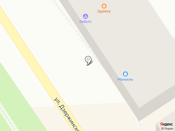Монокль на карте Пятигорска