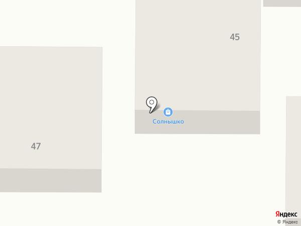 Солнышко на карте Горячеводского