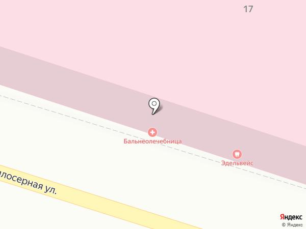 Нижняя радоновая лечебница на карте Пятигорска