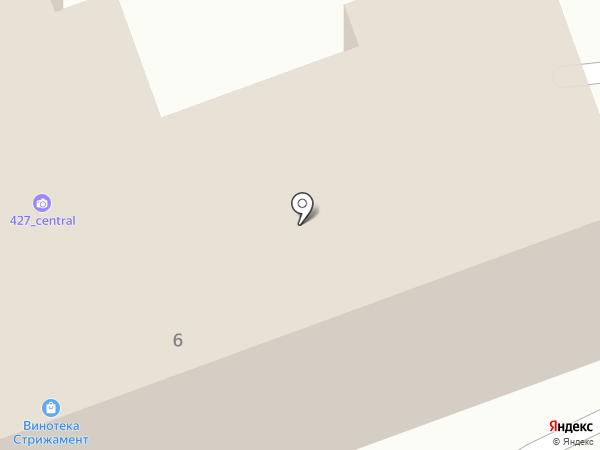 Центральный на карте Пятигорска