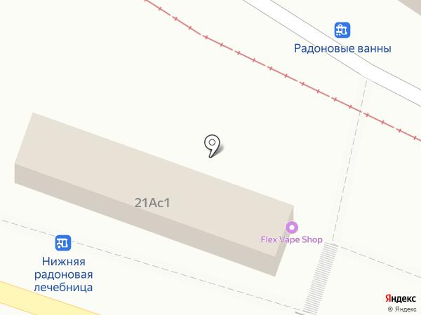 Магазинчик на Теплосерной на карте Пятигорска
