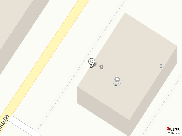 ЗАГС г. Пятигорска на карте Пятигорска