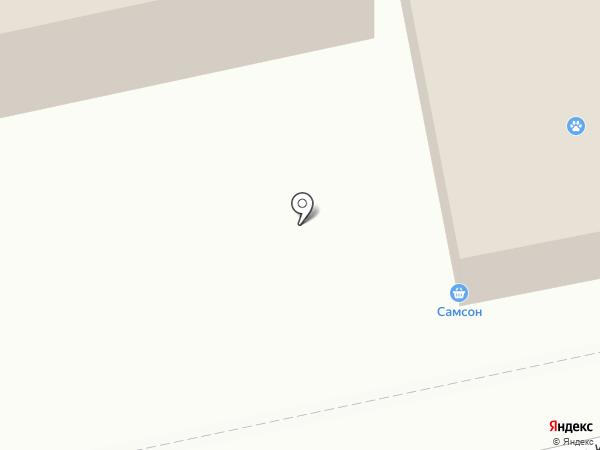 Самсон на карте Пятигорска