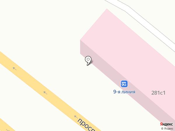 Гайк на карте Пятигорска