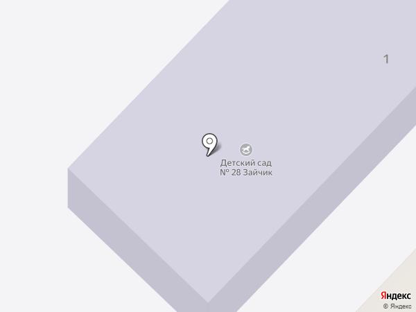 Детский сад №28 на карте Пятигорска