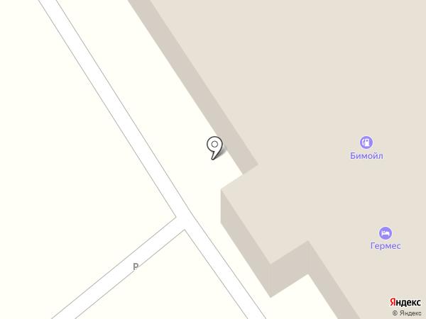 Гермес на карте Пятигорска