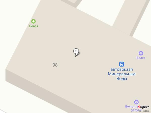 Автовокзал на карте Минеральных Вод