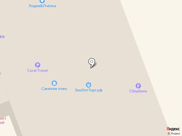 Карандаш на карте Дзержинска