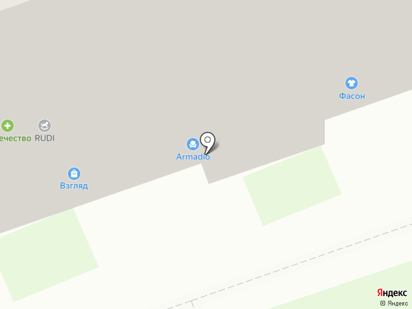 Фасон на карте Дзержинска