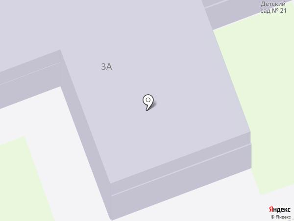 Детский сад №21 на карте Дзержинска