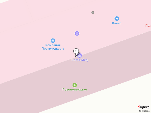 Палермо на карте Дзержинска