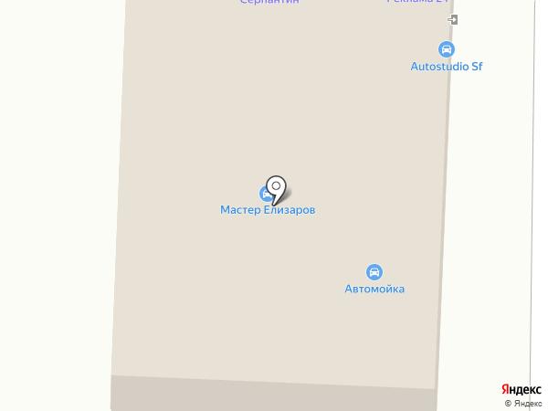 Изба на карте Дзержинска
