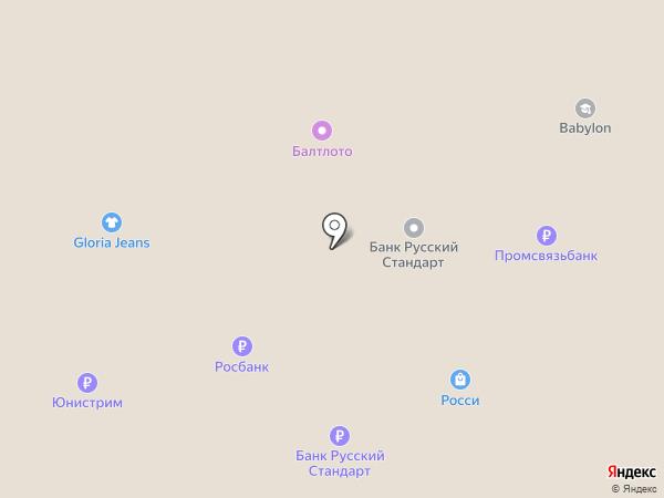 Ноготок на карте Дзержинска
