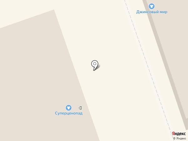Суперценопад на карте Дзержинска