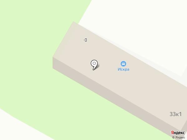 Искра на карте Дзержинска