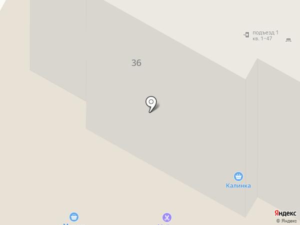 Опора на карте Дзержинска