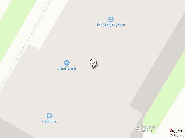 Лапоток на карте Дзержинска