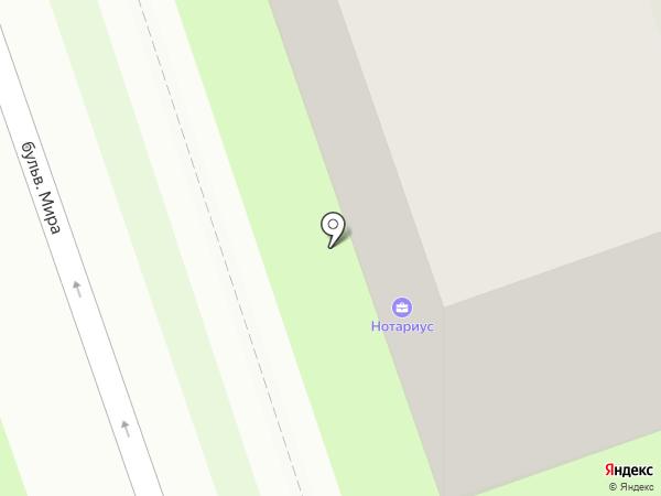 Нотариус Семина О.А. на карте Дзержинска