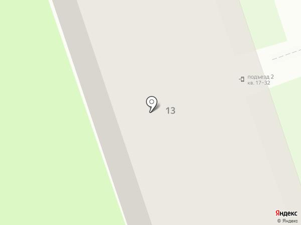 Центральная на карте Дзержинска