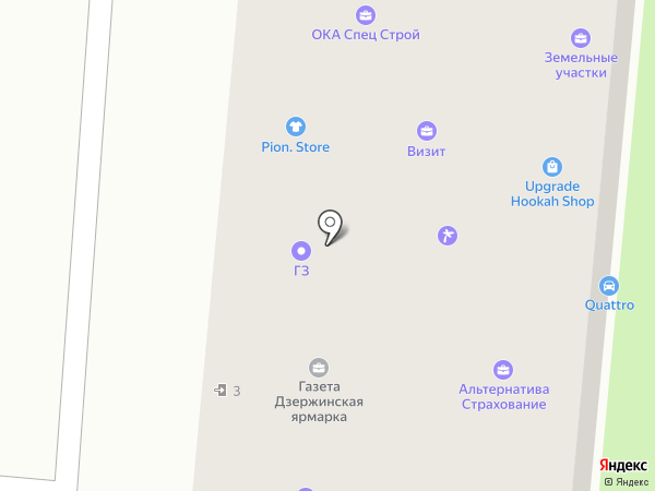 Дзержинская ярмарка на карте Дзержинска