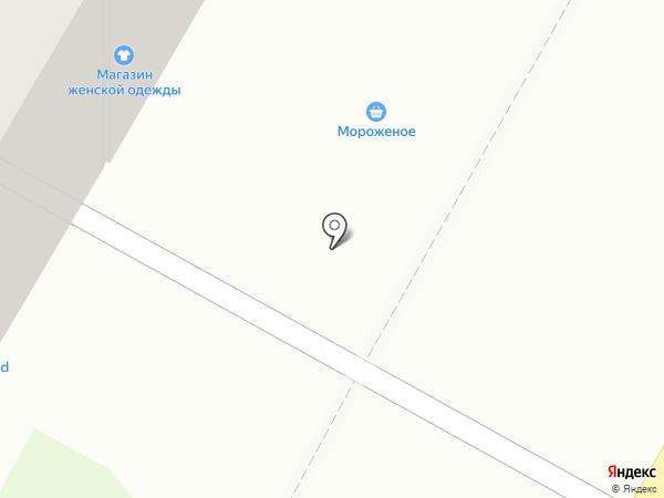Киоск по продаже мороженого на карте Дзержинска