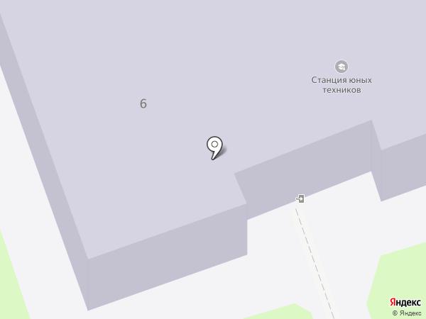 Станция юных техников на карте Дзержинска