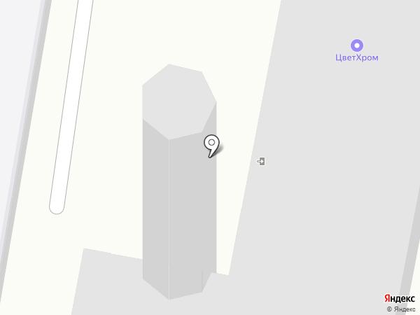 ЦветХром на карте Дзержинска