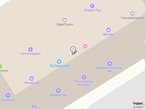 Светский в Дзержинске на карте Дзержинска