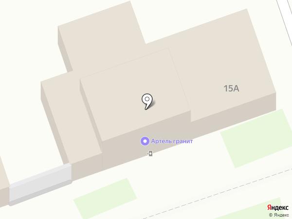 Гранит на карте Дзержинска