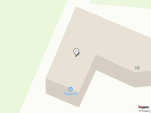 Тольятти на карте Дзержинска