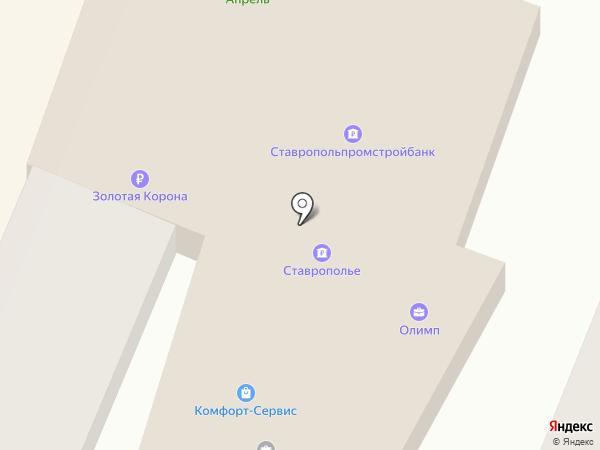 КБ ЕвроситиБанк на карте Георгиевска