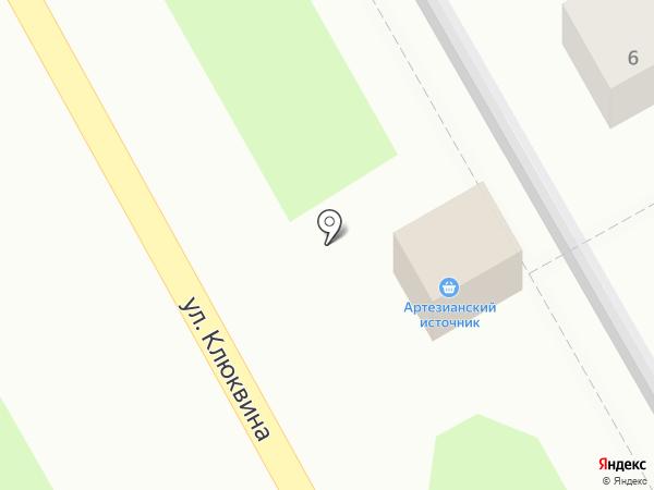Артезианский источник на карте Дзержинска