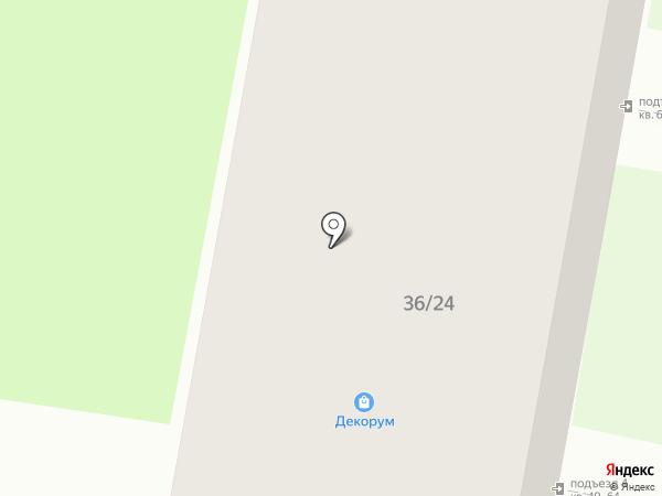 Чайка на карте Дзержинска