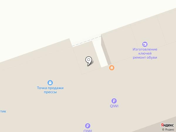 Киоск по продаже фастфудной продукции на карте Дзержинска