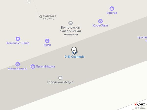 Кона на карте Дзержинска